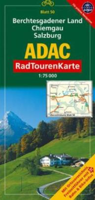 ADAC RadTourenKarte Berchtesgadener Land, Chiemgau, Salzburg