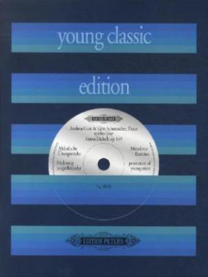 Melodische Übungsstücke op.149, für Klavier zu vier Händen, m. Audio-CD