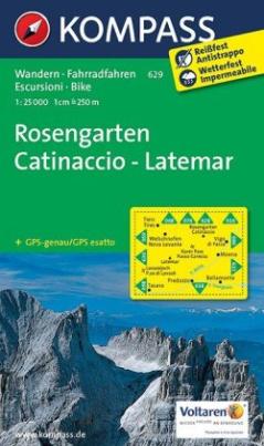 Kompass Karte Rosengarten / Catinaccio, Latemar