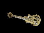 Goldfigur Elektrische Gitarre mit Swarovski Kristallen