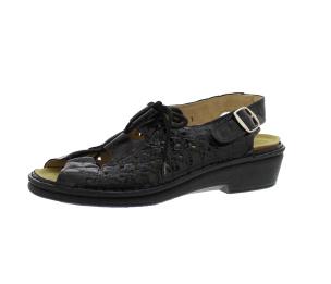 Sandalen aus Lackleder schwarz Größe 35
