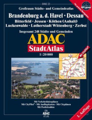 ADAC StadtAtlas Großraum Städte- und Gemeindeatlas Brandenburg a. d. Havel, Dessau