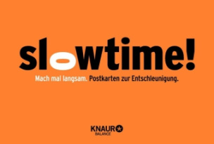 Slowtime! Postkarten zur Entschleunigung