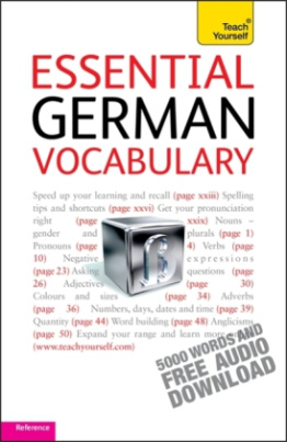 Teach Yourself Essential German Vocabulary