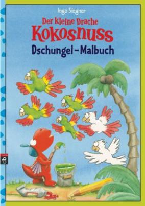 Der kleine Drache Kokosnuss - Dschungel-Malbuch
