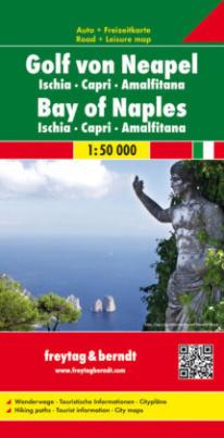 Freytag & Berndt Autokarte Golf von Neapel. Bay of Naples; Golfo di Napoli. Golfe de Naples; Golfo de Nápoles