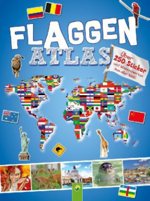 Flaggenatlas mit Stickern