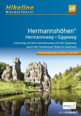 Hikeline Wanderführer Fernwanderweg Hermannshöhen, Hermannsweg, Eggeweg