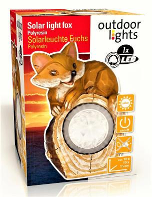 Solarleuchte Grinsender Fuchs