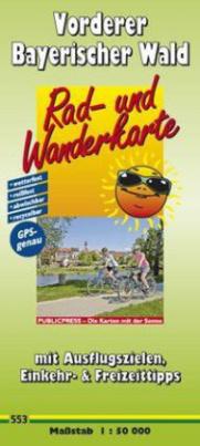 PublicPress Rad- und Wanderkarte Vorderer Bayerischer Wald