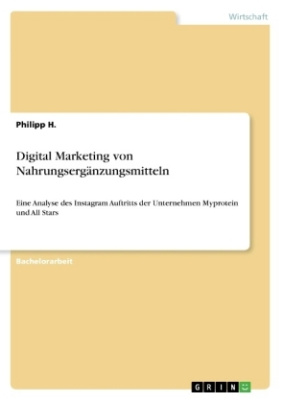 Digital Marketing von Nahrungsergänzungsmitteln