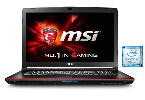 "MSI Gaming-Notebook ""GP72 7RD-202DE Leopard"" (i7-7700HQ, 17,3 Zoll, 16 GB RAM, SSD + HDD)"