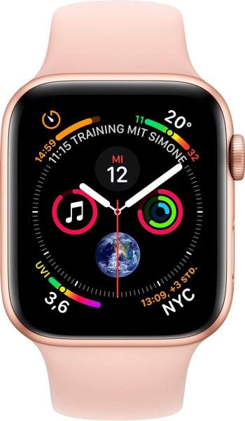 "APPLE Smart Watch ""Watch Series 4"" (GPS, 44 mm Aluminiumgehäuse, Goldfarben/Rosa)"