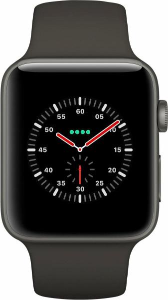 "APPLE Smart Watch ""Watch Edition Series 3"" (GPS + Cellular, 38 mm Keramikgehäuse, Grau)"