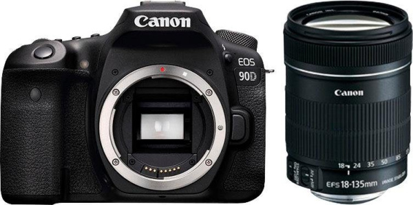"CANON Spiegelreflexkamera ""EOS 90D"" (32,5 MP, 18-135mm, Wifi, Bluetooth)"