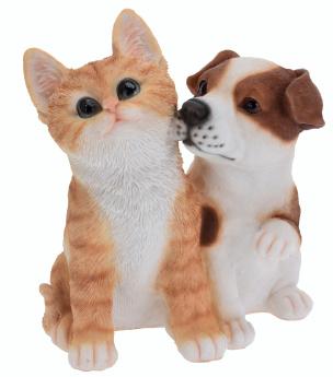 Deko Kätzchen und Welpe