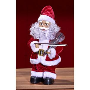Tanzender Nikolaus mit Geige 30 cm