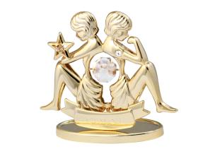 Sternzeichenfigur mit Swarovski Kristallen Zwillinge