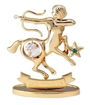 Sternzeichenfigur mit Swarovski Kristallen Schütze