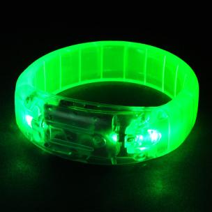 Leuchtarmband mit Musiksensor grün