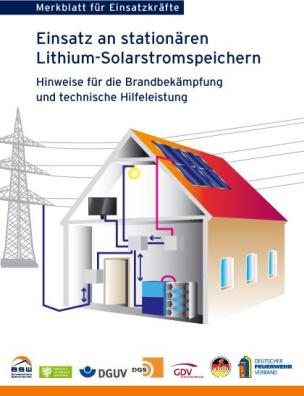 Merkblatt für Einsatzkräfte – Einsatz an stationären Lithium-Solarstromspeichern