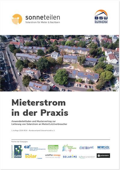 BSW-Leitfaden und Mustervertrag: Mieterstrom in der Praxis mit elektr. Versand