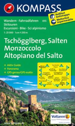 Kompass Karte Tschögglberg - Salten / Monzoccolo - Altopiano del Salto