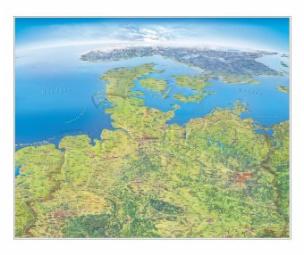 Panoramakarte Norddeutschland, Planokarte