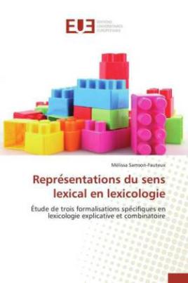 Repre sentations du sens lexical en lexicologie