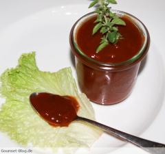 Tomatenketchup mit Portwein zum Grillen
