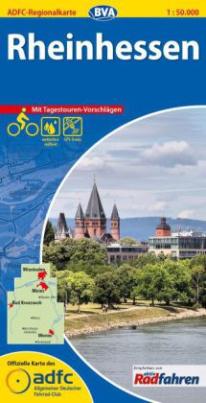 ADFC Regionalkarte Rheinhessen mit Tagestouren-Vorschlägen, 1:50.000, reiß- und wetterfest, GPS-Tracks Download