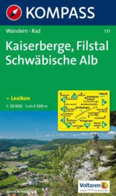 Kompass Karte Kaiserberge, Filstal, Schwäbische Alb