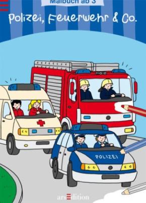 Polizei, Feuerwehr & Co., Malbuch