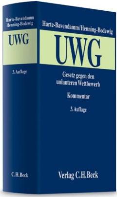 Gesetz gegen den unlauteren Wettbewerb (UWG), Kommentar