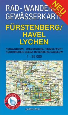 Rad-, Wander- und Gewässerkarte: Fürstenberg/Havel Lychen