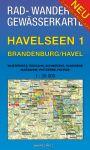 Rad-, Wander- und Gewässerkarte Havelseen 1: Brandenburg/Havel