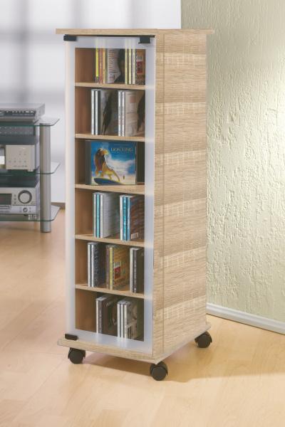 cd schrank valenza sonoma eiche s gerau f r 300 cds. Black Bedroom Furniture Sets. Home Design Ideas