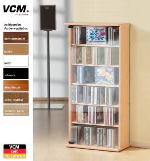 """CD-Schrank """"Vetro - kirschbaum"""" für 150 CDs"""